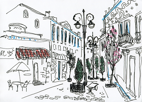Art Urban Sketching Suggestion The of