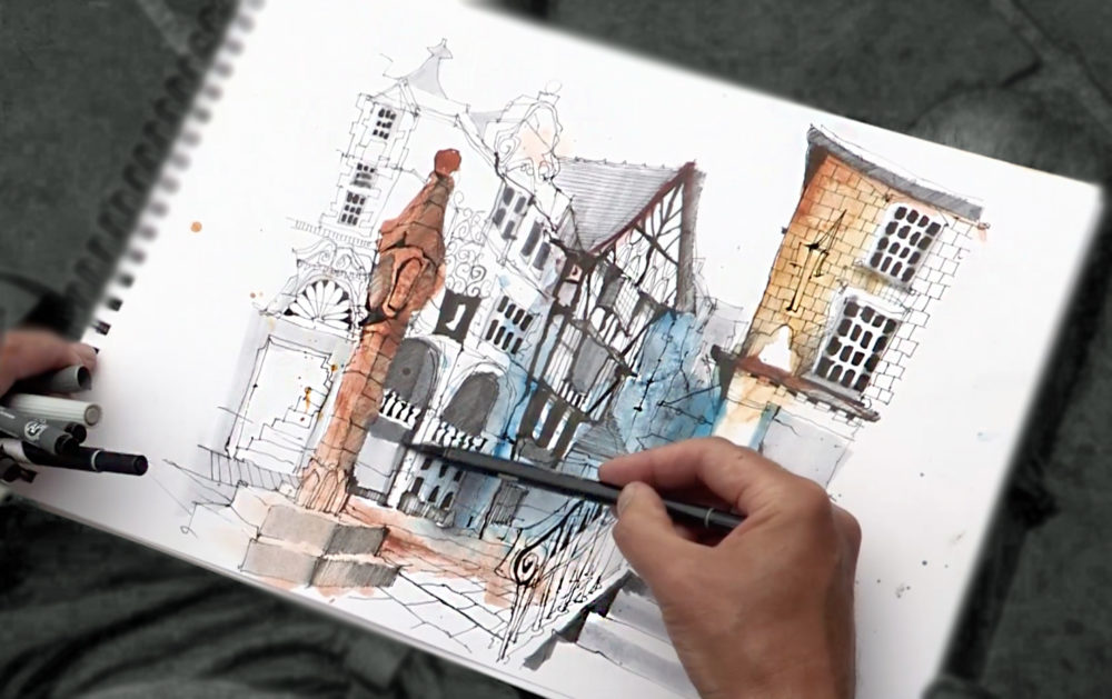 Urban sketch sketching on location what to take