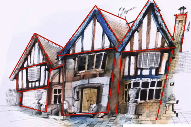 Ian Fennelly's painting of the house