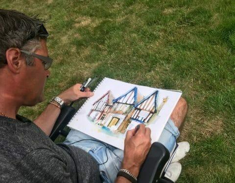 Urban sketch course Ian fennelly england artist hoylake sketchbook feedback gallery review