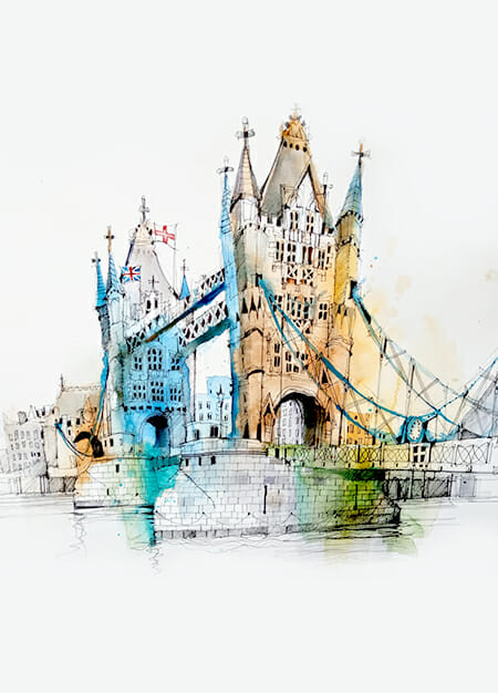 London's Greatest Hits Urban Sketching Course art supplies