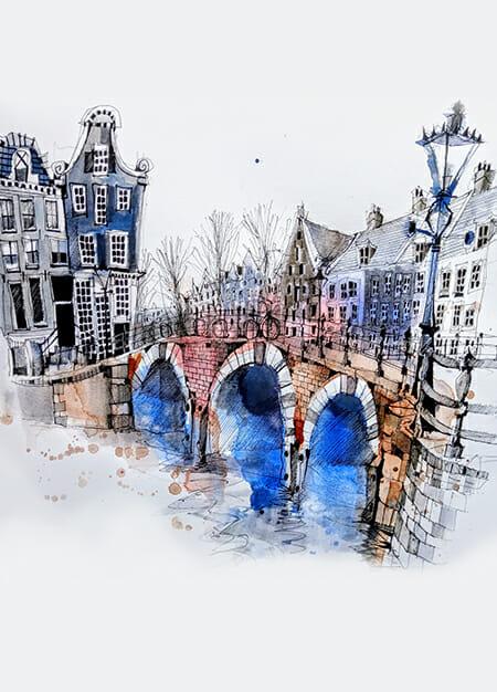 Amsterdam how to urban sketch usk urban sketchers