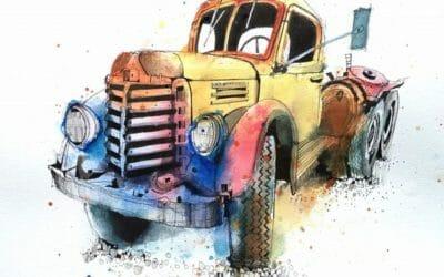 Truck Sketching Workshop 1940 Harvester