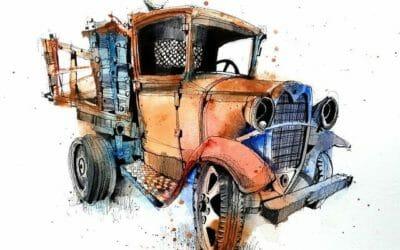Truck Sketching Workshop 1932 Ford Flatbed Truck